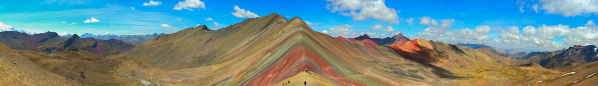 Rainbow Mountain Peru Panorama