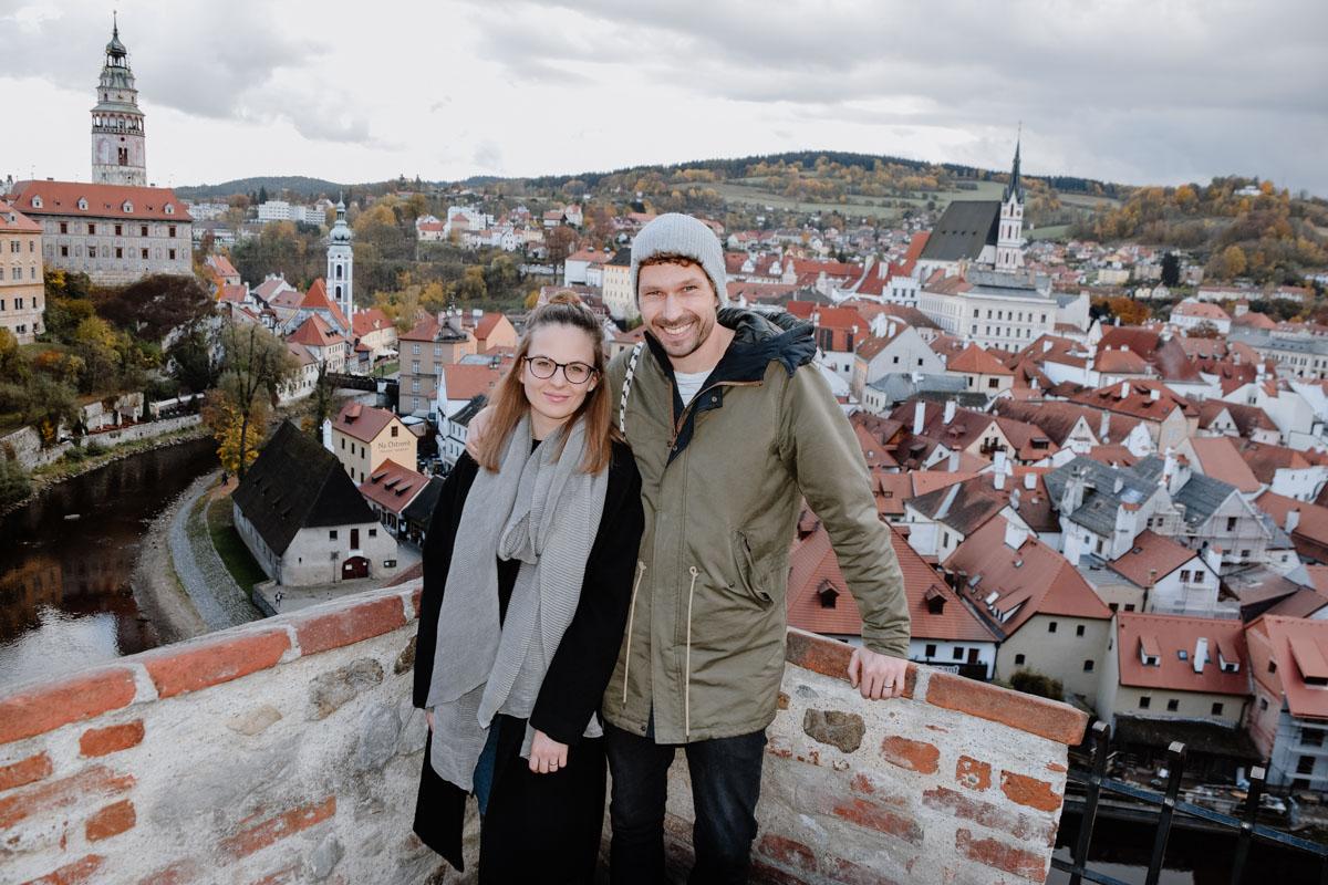 Über den Dächern von Český Krumlov