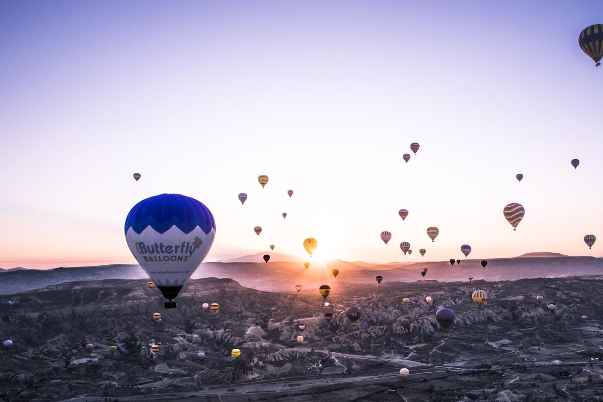 Mit dem Heißluft-ballon über Kappadokien «oder: Unser erstes Ballon-abenteuer»