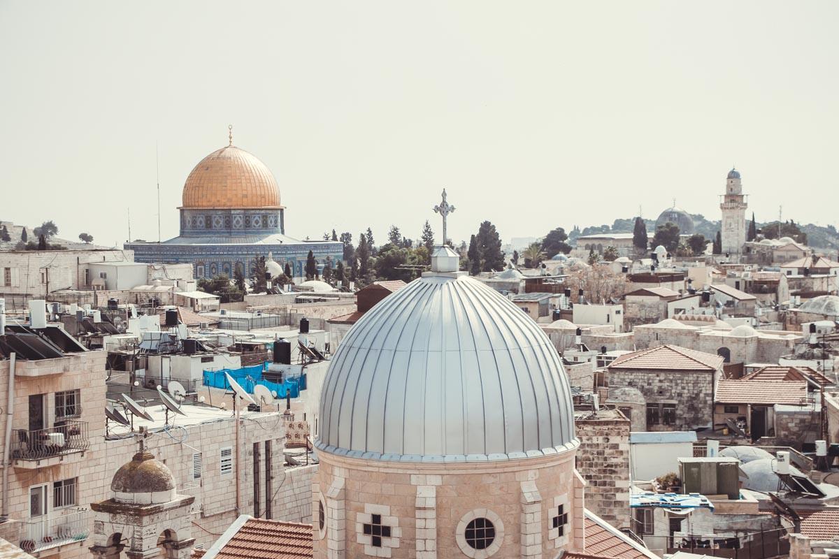 Auf dem Dach des österreichischen Hospiz Jerusalem