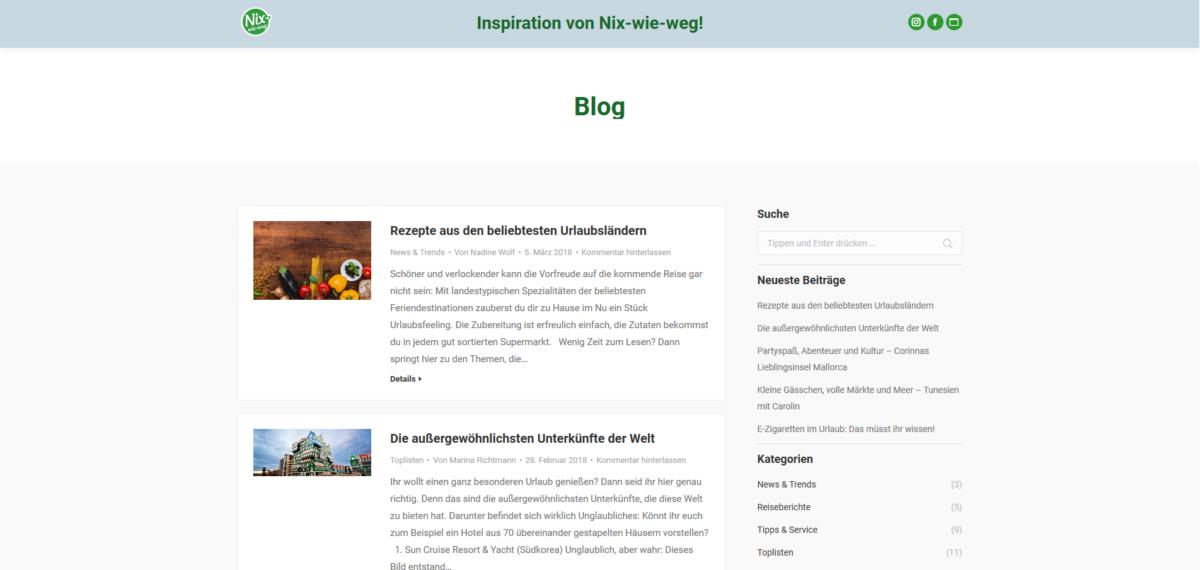 Nix-wie-weg Inspirationsseite