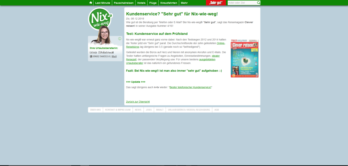 Nix-wie-weg Testsieger