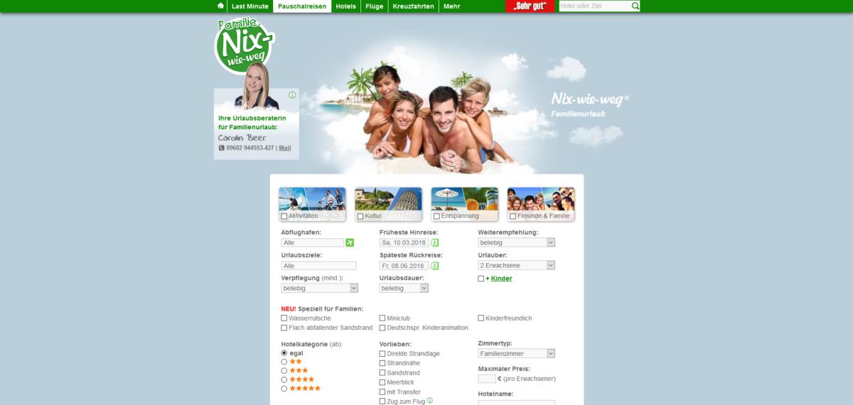Nix-wie-weg Familienseite