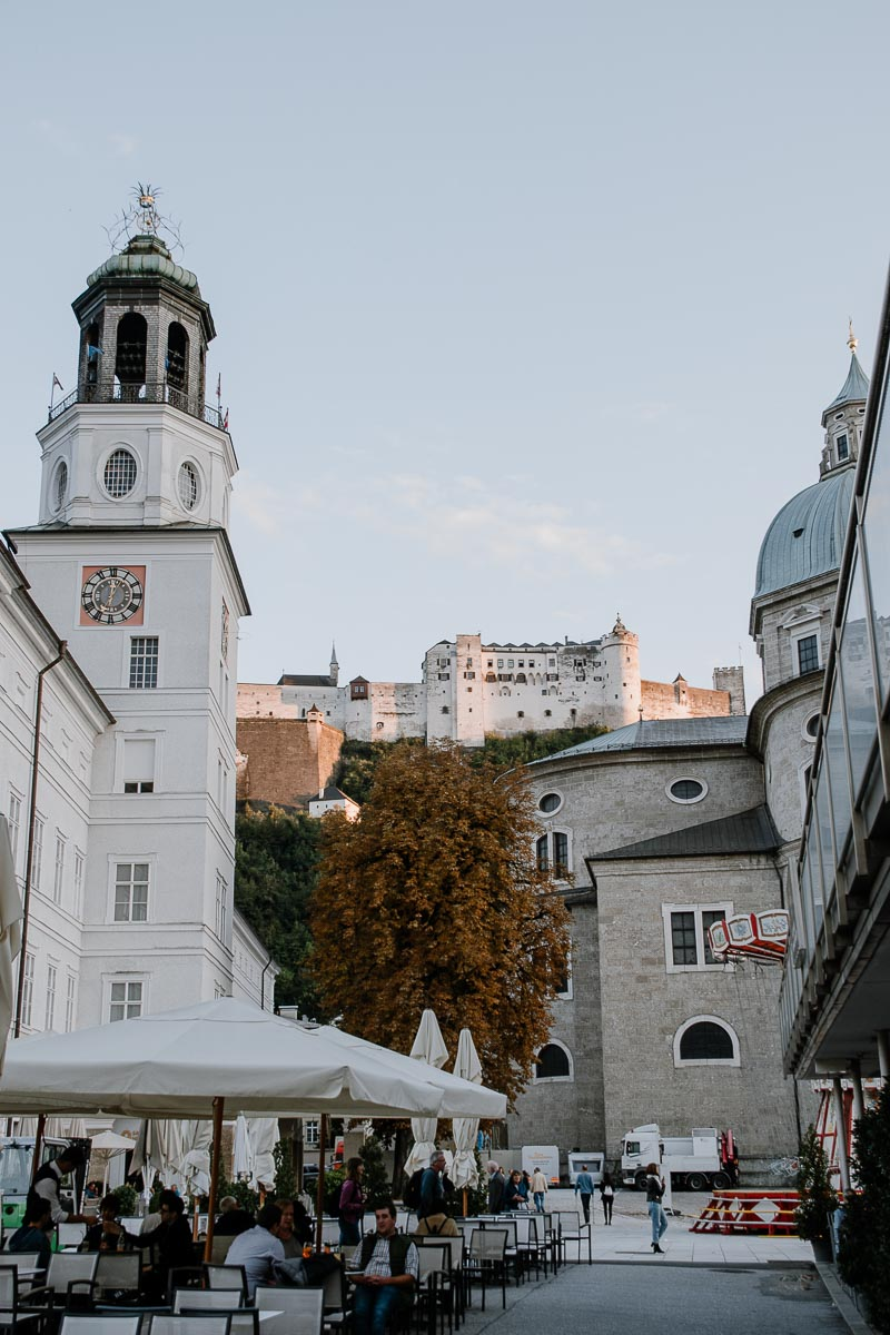 Blick auf die Burg Salzburg