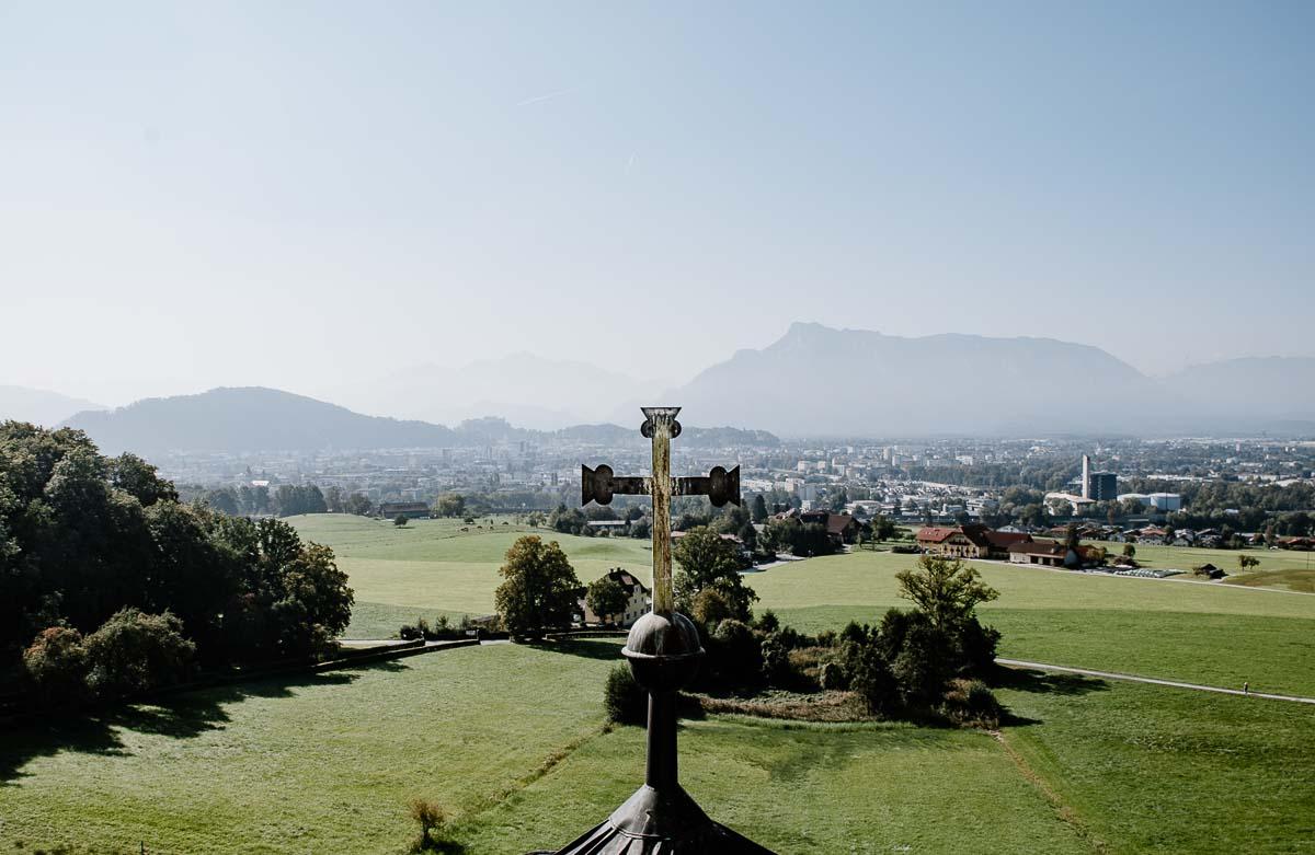 Blick von Maria Plain über Salzburg