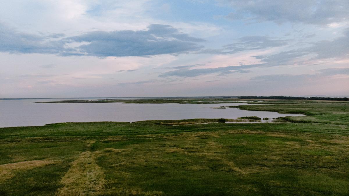 Bodden Blick auf Fischland