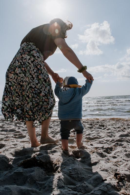 Mit Kind an der Ostsee